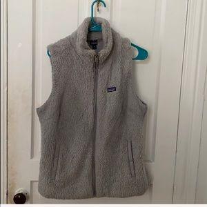 Patagonia grey fleece vest for sale